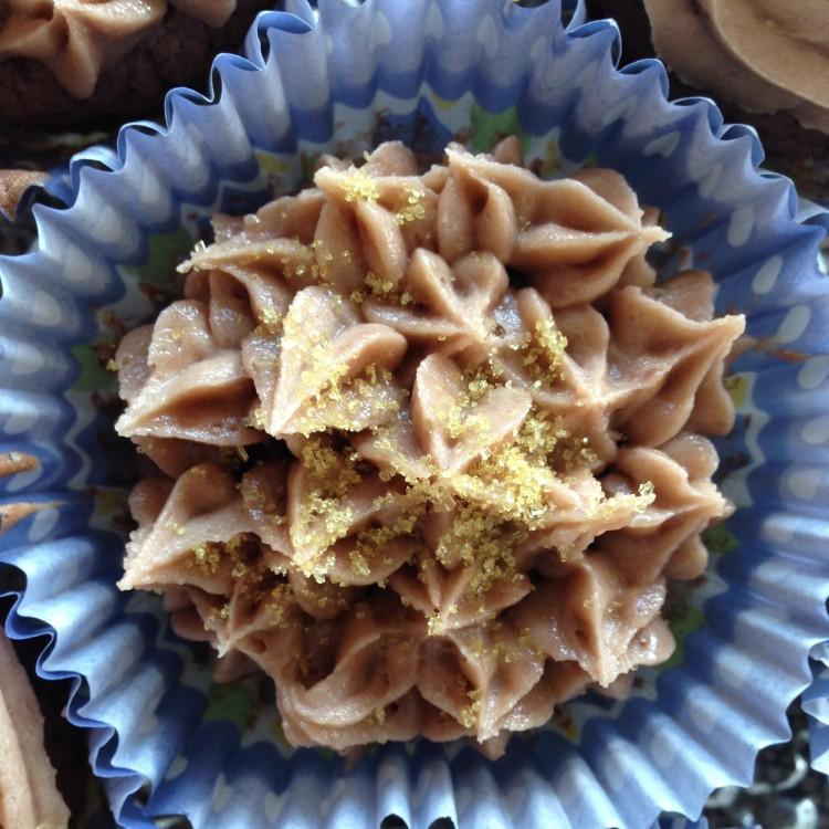 Rotwein-Cupcakes mit Buttercreme