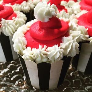 Santa-Claus-Cupcakes Nahaufnahme