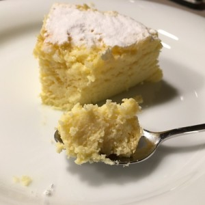 Ein Stück japanischer Cheesecake