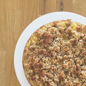 Rhabarberkuchen mit Vanille