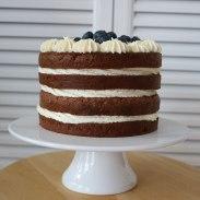 Naked-Cake mit Heidelbeeren