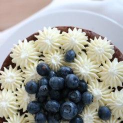 Nakedcake mit Heidelbeeren