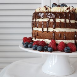 Nakedcake mit Chocolatedrip
