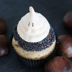 Maroni Cupcakes mit Geistli-Optik